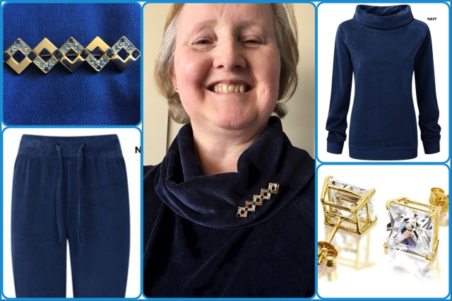 Outfit of the day 05/03/18 with vintage brooch