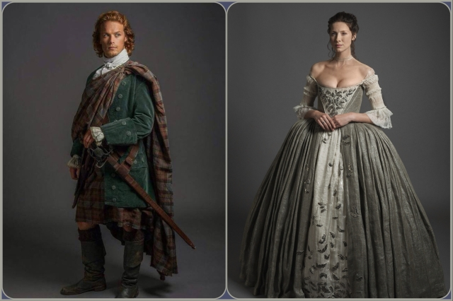 Beautiful costumes on Outlander series 1