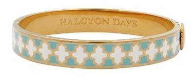 Enamel and gold bangle - Halcyon Days