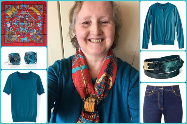 Outfit of the day 03/04/18 with Hermès' Persepolis scarf