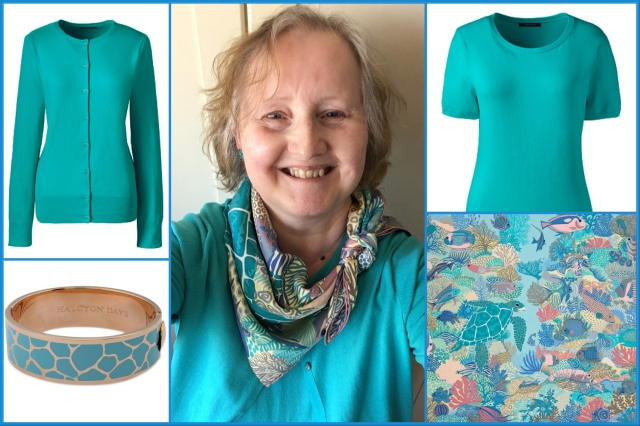 Outfit of the day 14/05/18 with Hermès' Under the Waves scarf