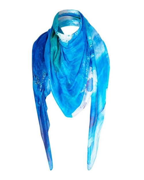 Sea Blue scarf by Kirsteen Stewart