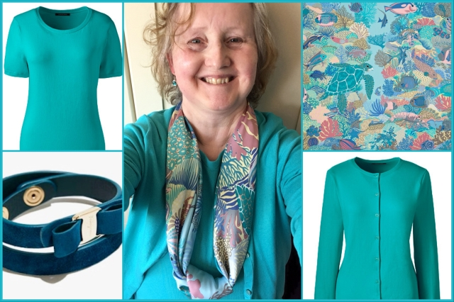 Outfit of the day 13/05/18 with Hermès' Under the Waves scarf