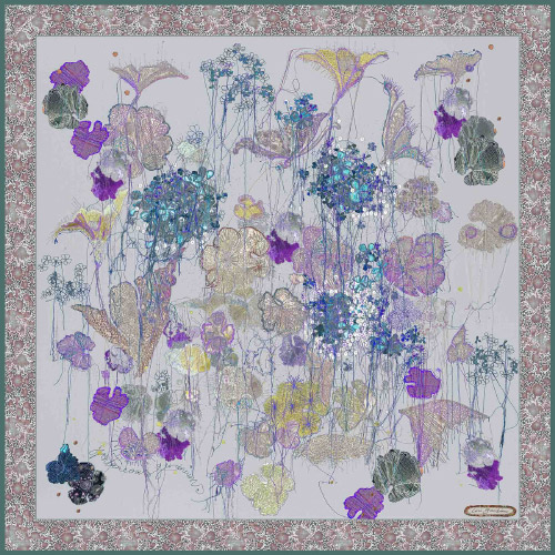 Spontaneous Geraniums scarf by Louise Gardiner