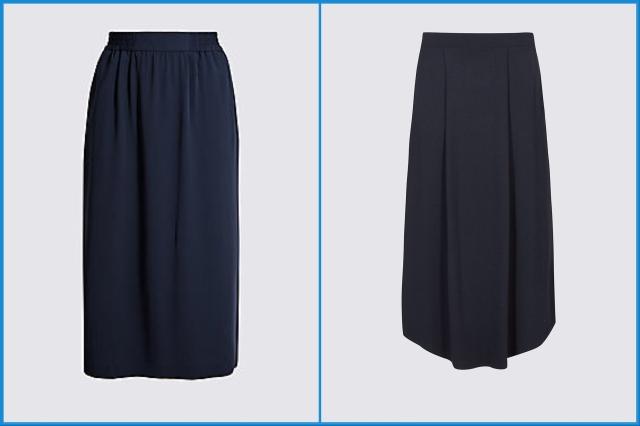 Navy midi skirts - Marks and Spencer