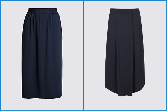Navy midi skirts - Marks and Spencer