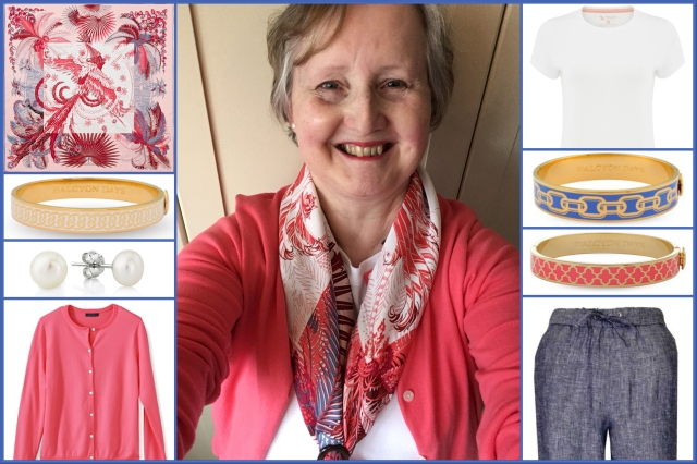 Outfit of the day 05/06/18 with Hermès' Mythiques Phoenix Coloriage scarf