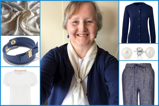 Outfit of the day 15/06/18 with Liberty's Laws of the Game of Cricket scarf