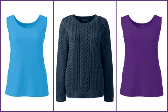 Vests and jumper by Lands' End