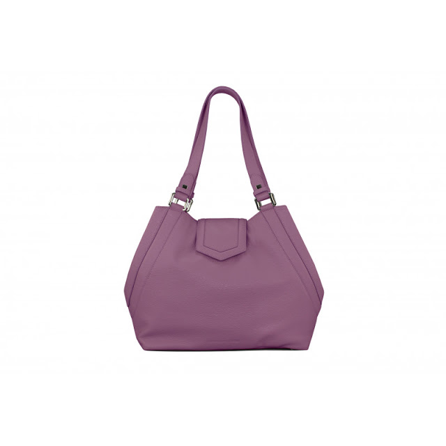 Victoria in amethyst pebbled leather by Marco Massaccesi