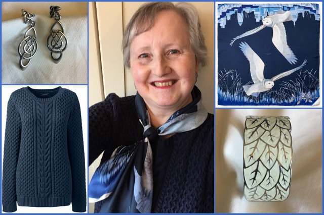 Outfit of the day 26/08/18 with Aspinal's Owl in the City scarf