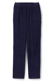 Navy cord trousers - Lands' End