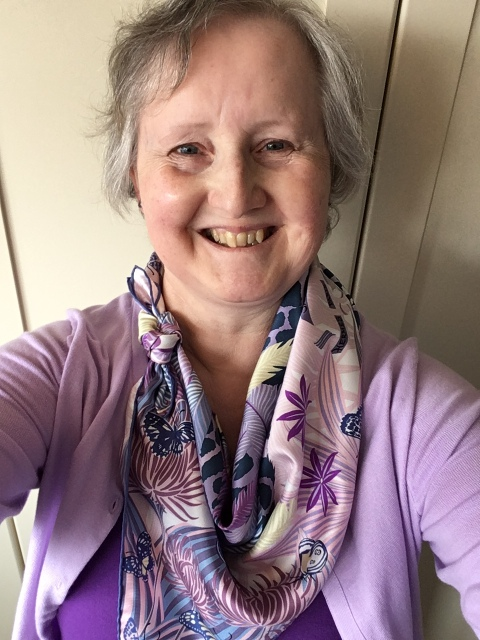 Outfit of the day 17/08/18 with Hermès Jaguar Quetzal scarf