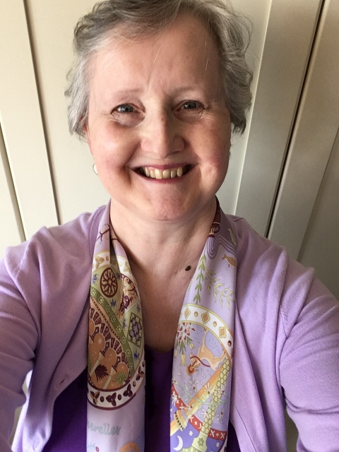 Outfit of the day 24/08/18 with Hermès Escales Mediterranéenes scarf