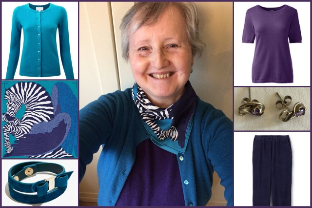 Outfit of the day 16/10/18 with Hermès' Zebra Pegasus gavroche
