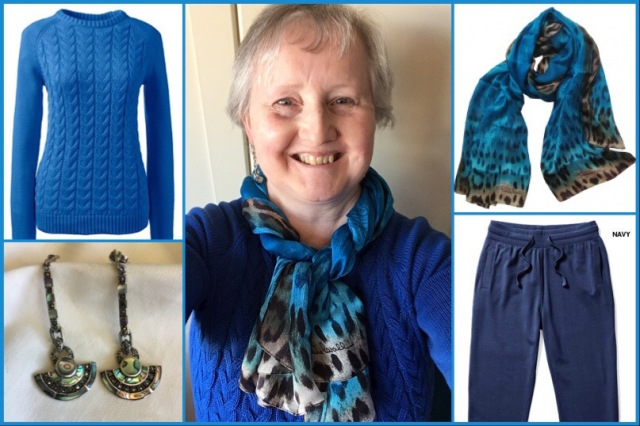 Outfit of the day 19/10/18 with a scarf by Roberto Cavalli