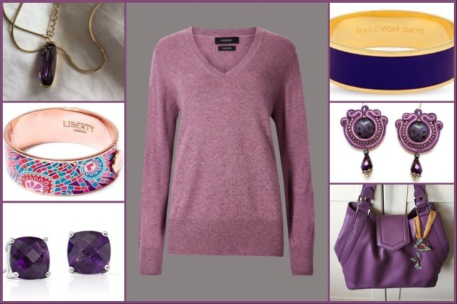 Cashmere jumper from Marks and Spencer with accessories