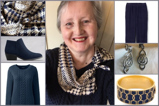 Outfit of the day 05/11/18 with Richard Allan's houndstooth scarf