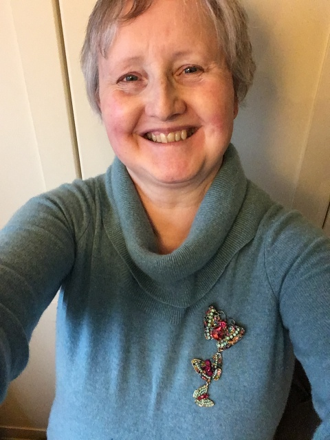Outfit of the day 29/11/18 with Sonrisa butterfly brooch