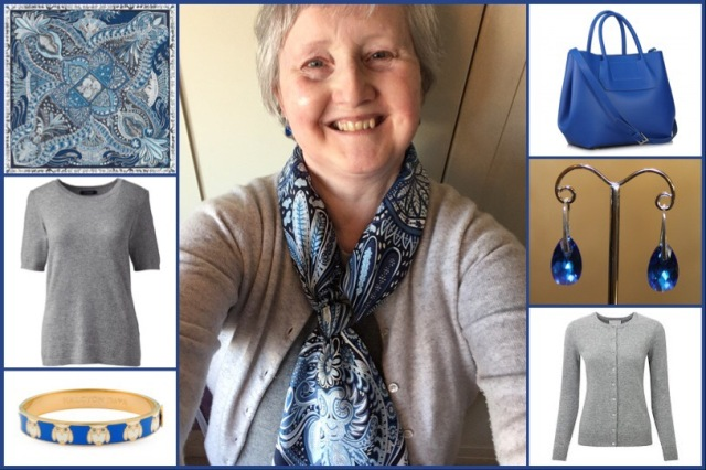 Outfit of the day 13/11/18 with Hermès' Le Jardin de la Maharani scarf