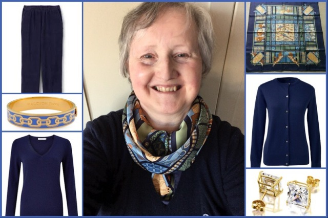 Outfit of the day 19/11/18 with Hermès' Les Secrets de Minos scarf