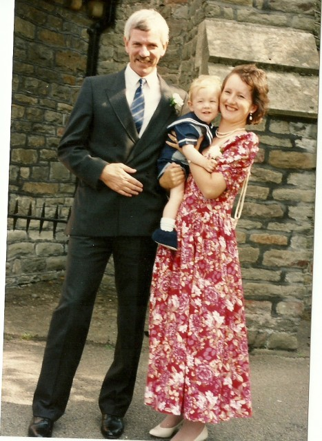 Lovely Husband, Elder Son and me back in 1991!