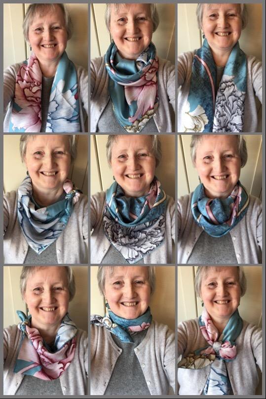 À L'Ombre des Pivoines - scarf ties