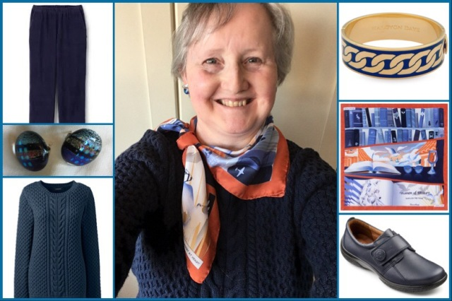 Outfit of the day 11/12/18 with Karine Assaf's A Feminist at Heart scarf