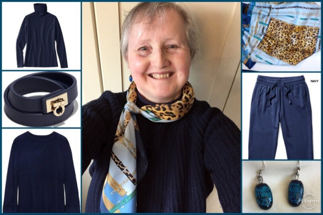 Outfit of the day 22/01/19 with scarf by Cornelia James