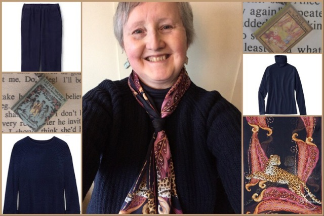 Outfit of the day 29/01/19 with Ferragamo's Leopards and Feathers stole
