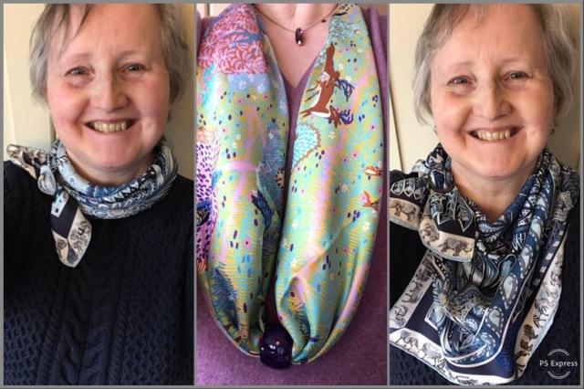 New scarf rings with Le Jardin de la Maharani and Dans un Jardin Anglais - Hermès