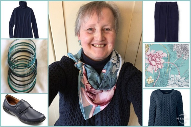 Outfit of the day 18/01/19 with Hermès' A L'Ombre des Pivoines scarf