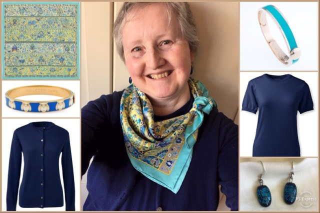 Outfit of the day 28/02/19 with Hermès' Au Pays des Oiseaux Fleurs scarf