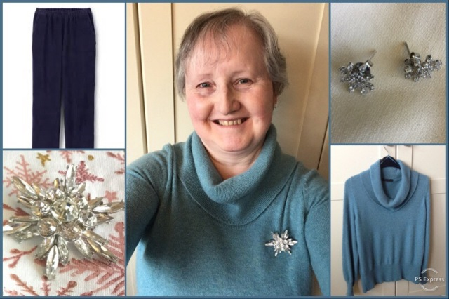 Outfit of the day 01/02/19 with snowflake bling!