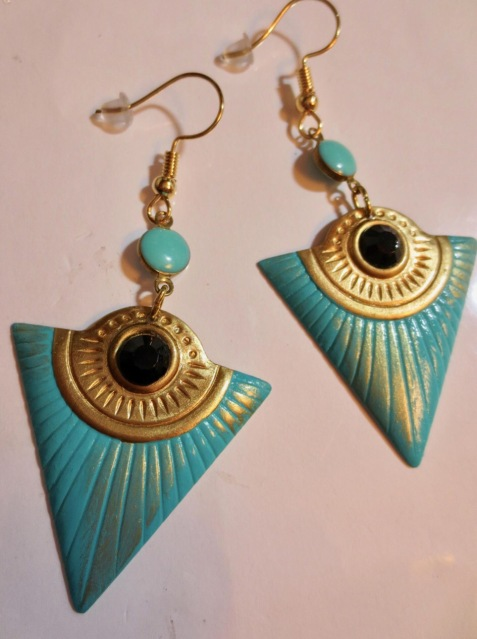 Egyptian revival Art Deco earrings - AngelineDresserSilks
