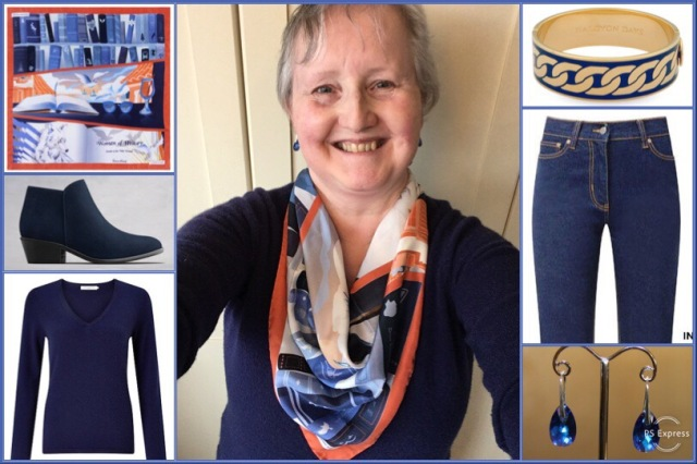 Outfit of the day 01/03/19 with Karine Assaf's A Feminist at Heart scarf