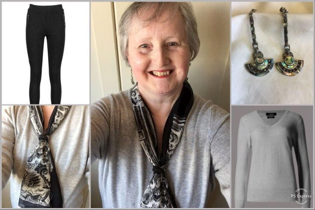 Outfit of the day 25/03/19 with architectural scarf