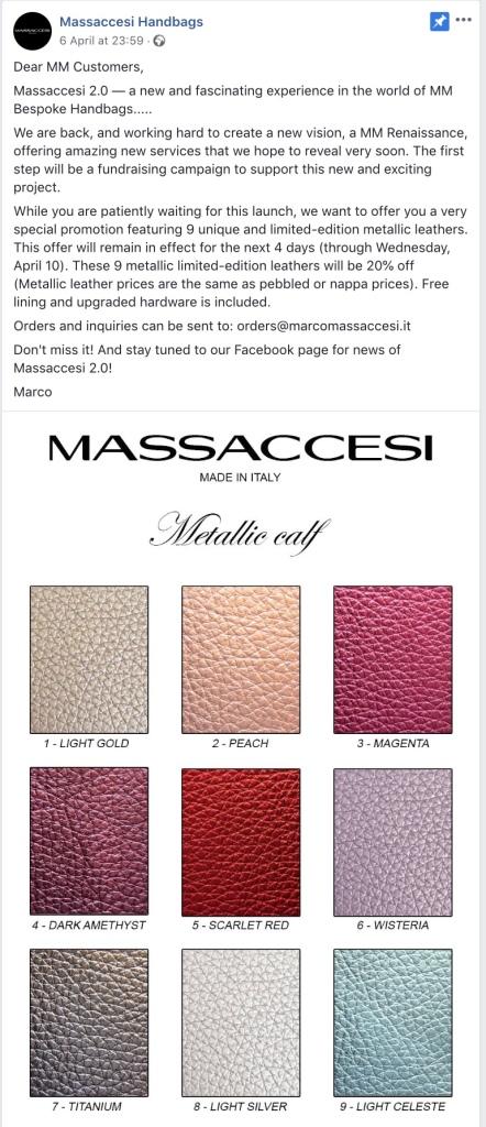 Massaccesi news 06/04/19