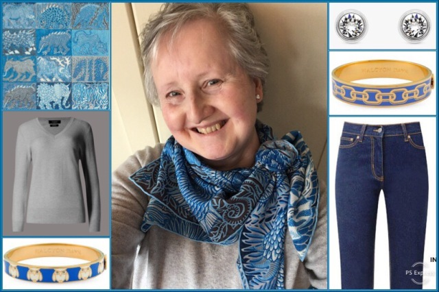 Outfit of the day 04/04/19 with Hermès' Sweet Dreams scarf