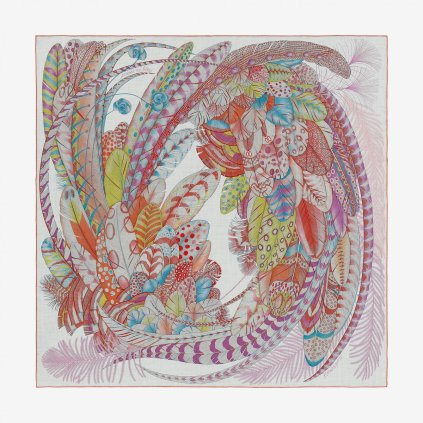 Hermès' Plumes en Fête shawl (H243433S 04)